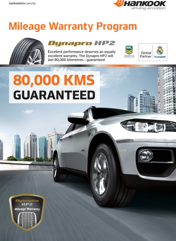 Dynapro HP2 (RA33) 80,000km Mileage Guarantee